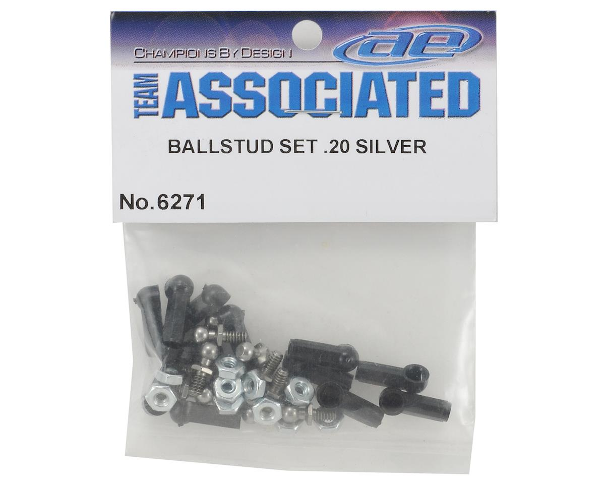 Team Associated Stainless Steel Short Ball Stud Set w/Ball Cups & Nuts (12) (RC10T3,B3)