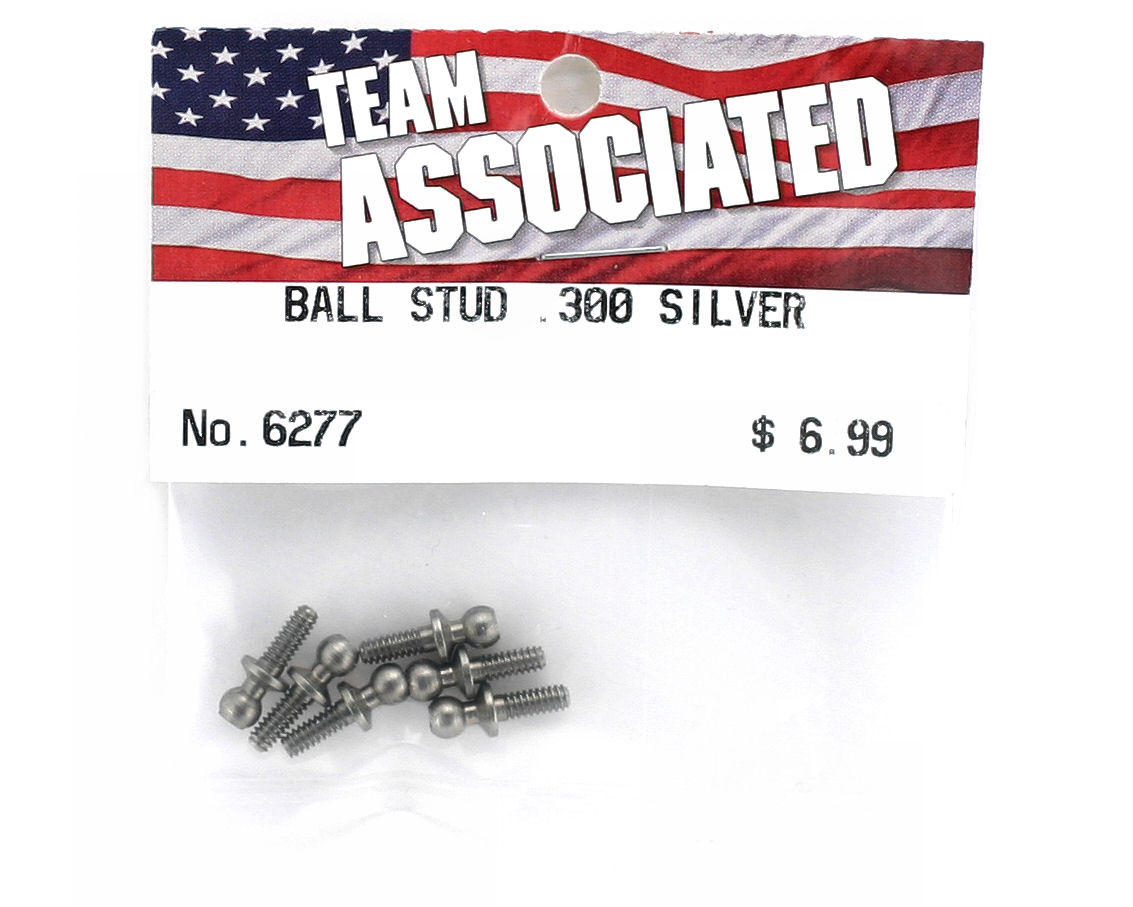 "Team Associated .300"" Ball Stud (Silver) (6)"