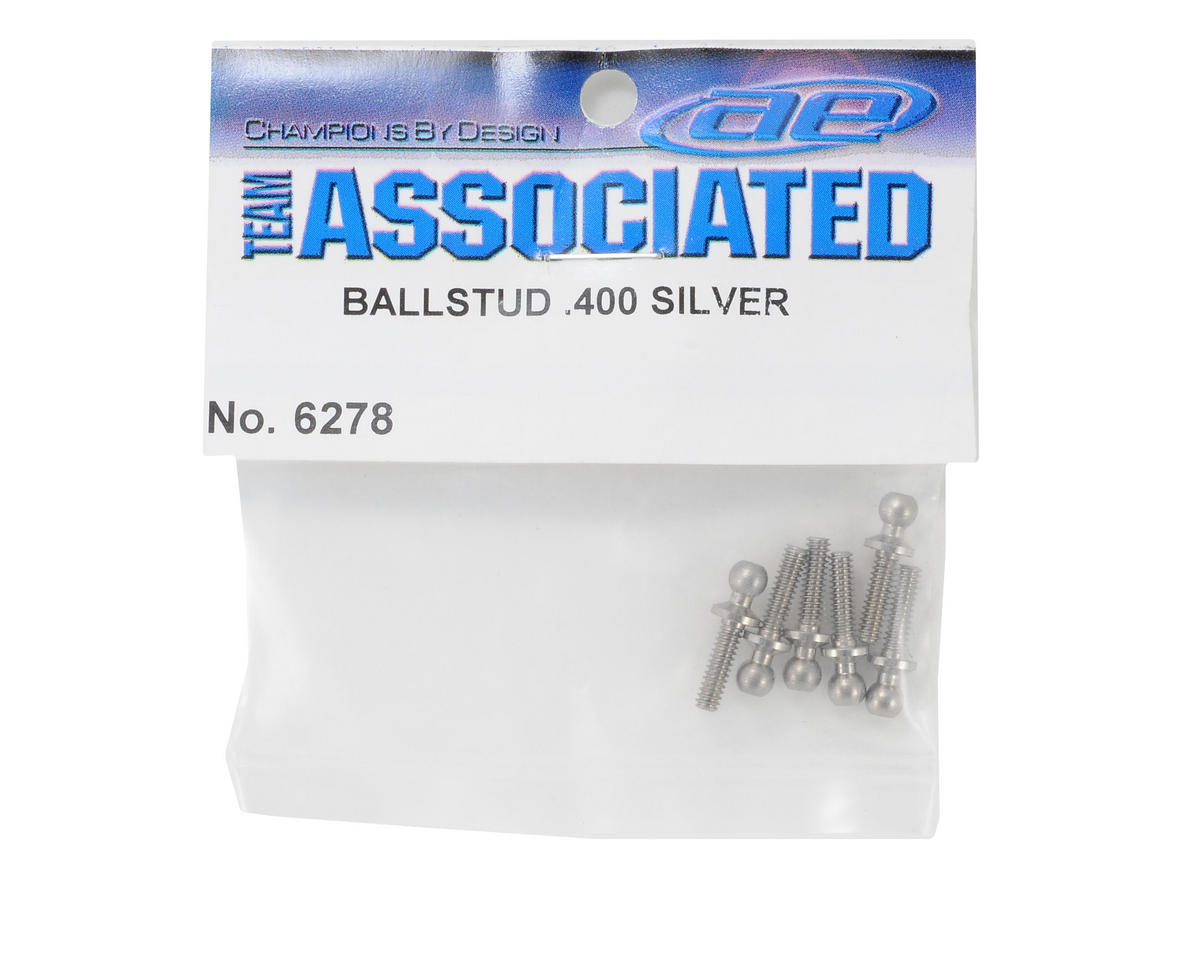 "Team Associated Long Silver Ballstud (6) (.400"")"