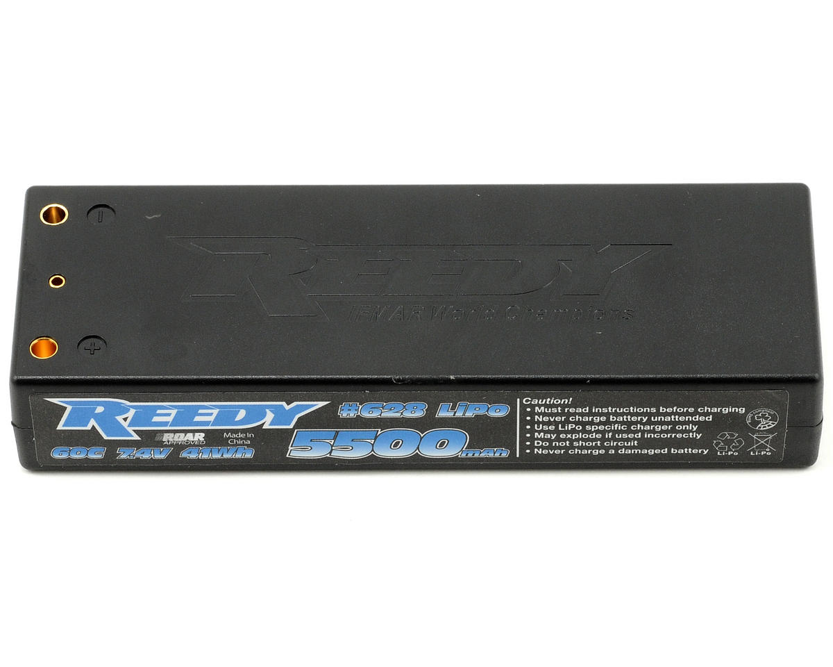 Reedy 2S Hard Case Li-Poly Battery Pack 60C (7.4V/5500mAh)