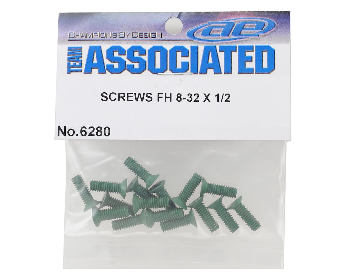 Team Associated 8-32 x 1/2 Flat Head Aluminum Screws