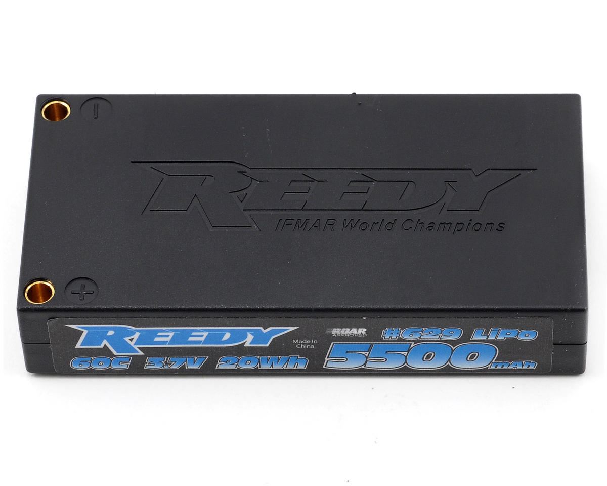 Reedy 1S Hard Case Li-Poly Battery Pack 60C (3.7V/5500mAh)