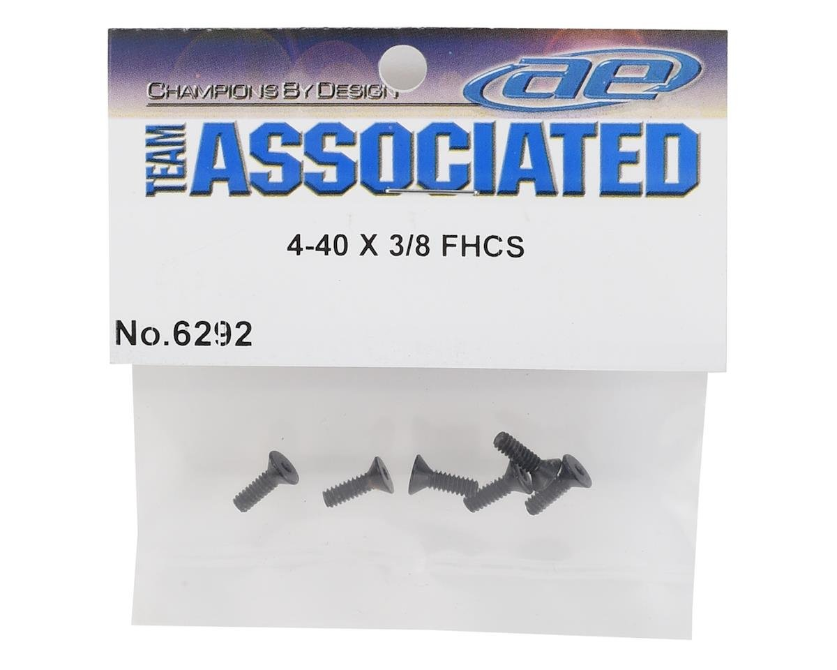 "Team Associated 4-40 x 3/8"" Flat Head Screw (6)"