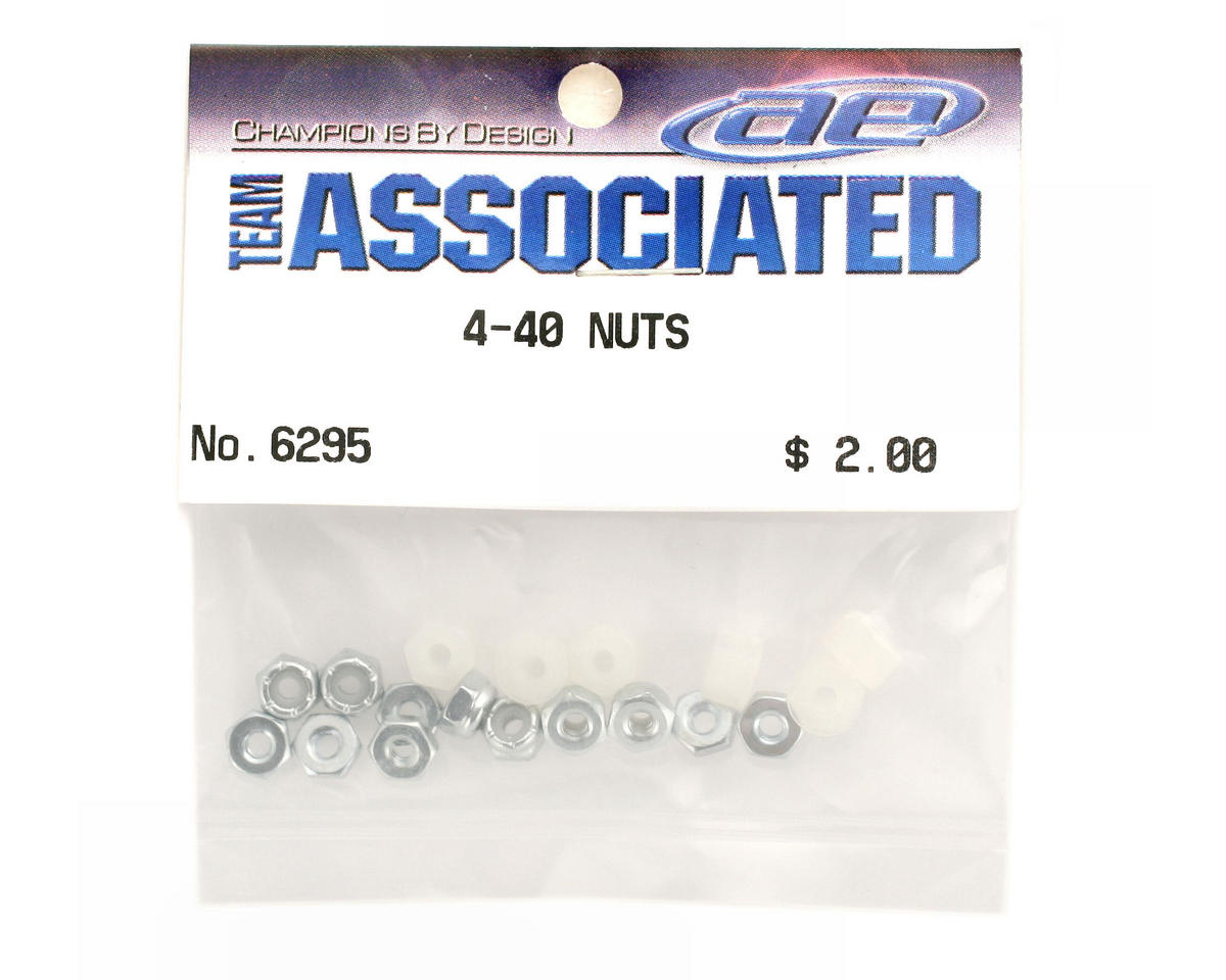 Team Associated Plain Nylon Locknut 4-40 (18)