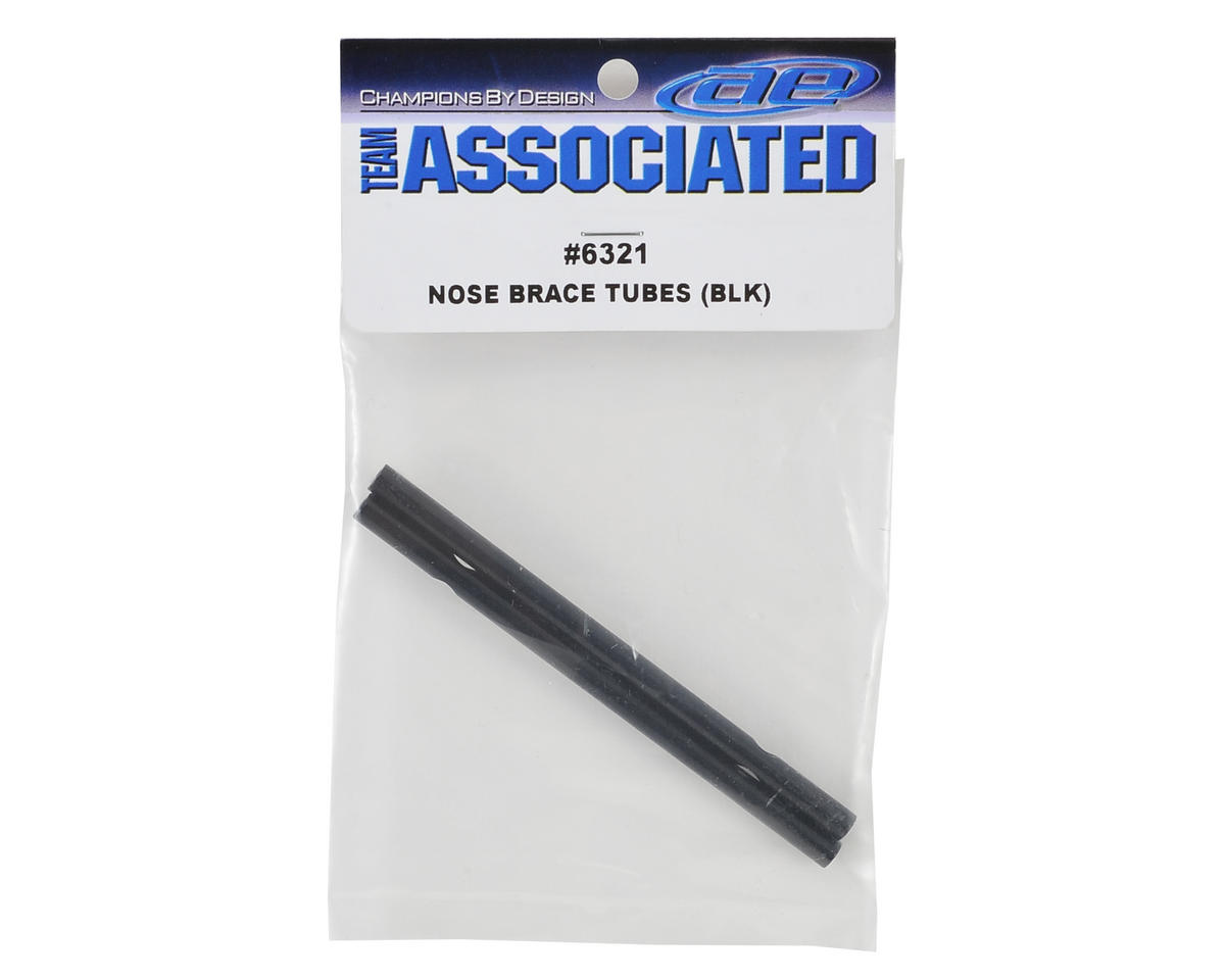 Nose Brace Tube (Black) (2) by Team Associated