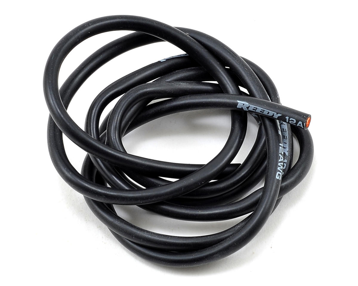 Reedy 12awg Pro Silicone Wire (Black) (1 Meter)