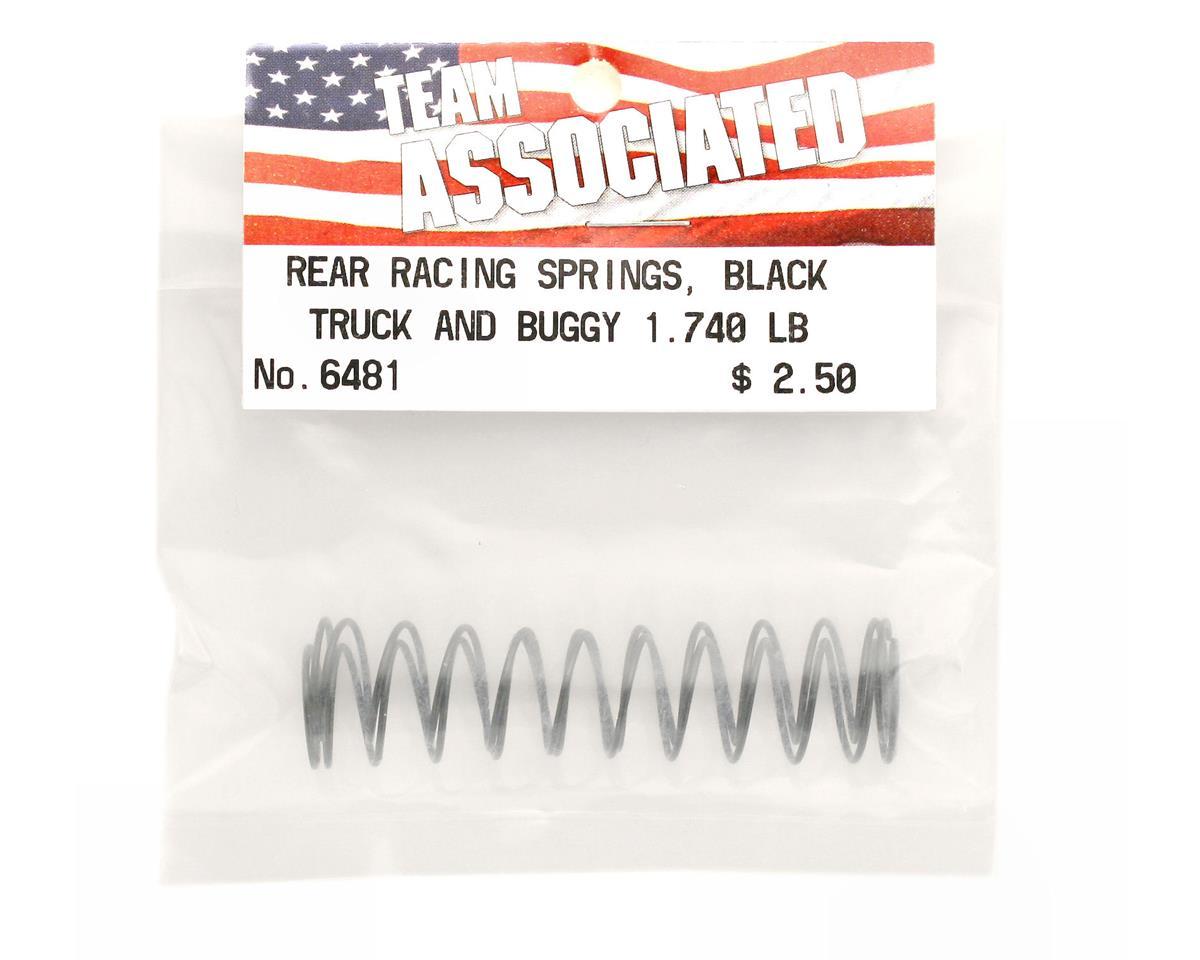 Team Associated SC10GT   Rear Buggy /& Truck Shock Spring 1.74lb Black 2 ASC6481