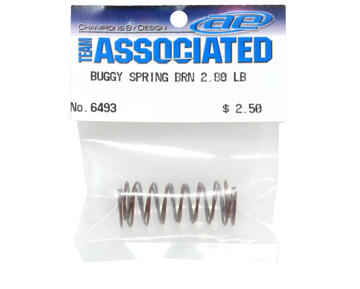 Front Buggy Shock Spring Set (Brown - 2.80 lbs) (2) by Team Associated