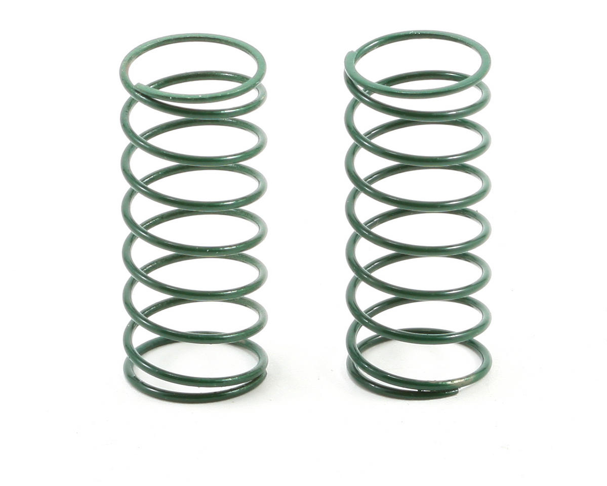 Team Associated RC10 Front Buggy Shock Spring Set (Green - 3.50 lbs) (2)