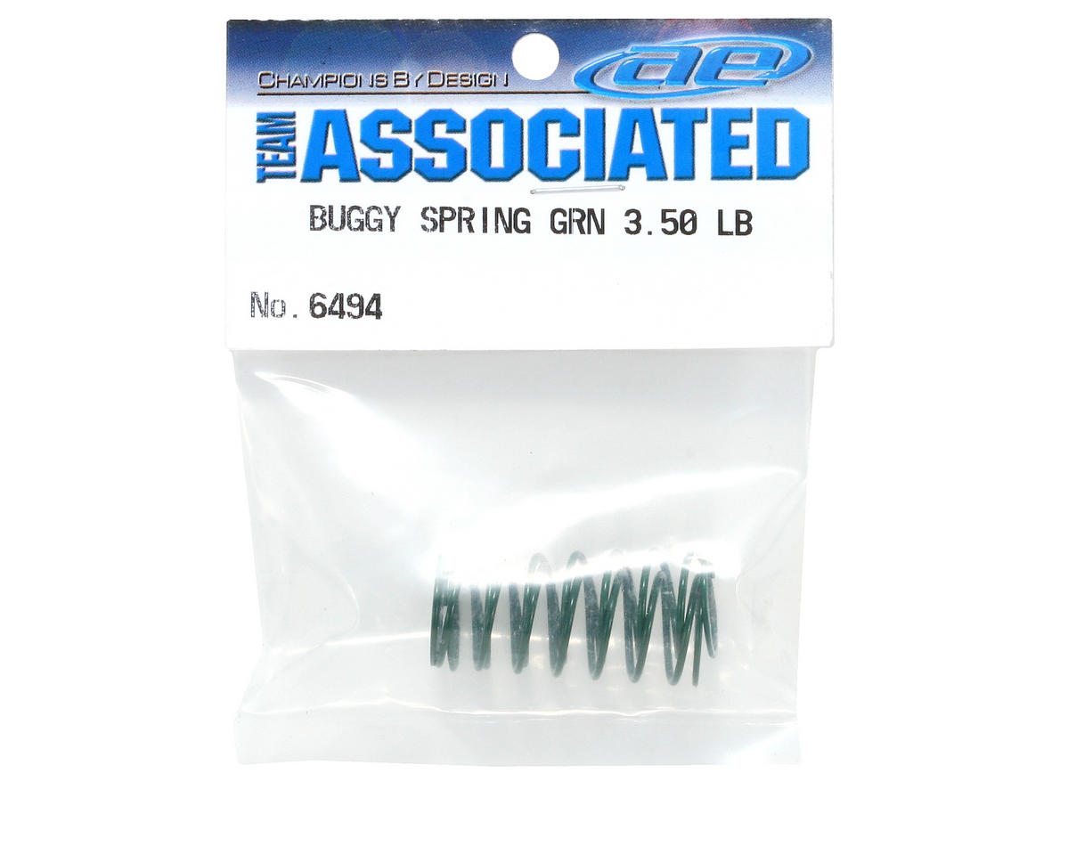 Team Associated Front Buggy Shock Spring Set (Green - 3.50 lbs) (2)