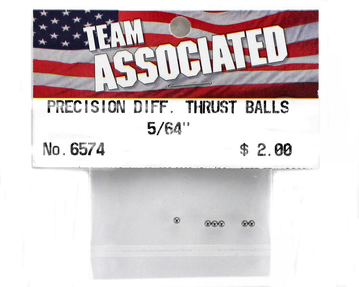 "Team Associated 5/64"" Precision Differential Thrust Ball (6)"