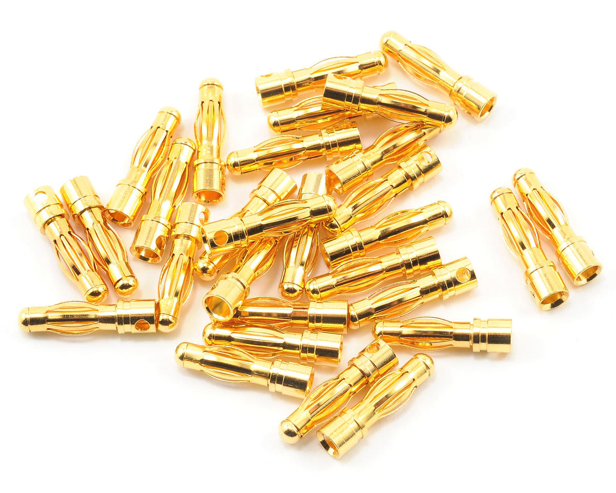 Team Associated 4mm Bullet Connector Set (30 Male)