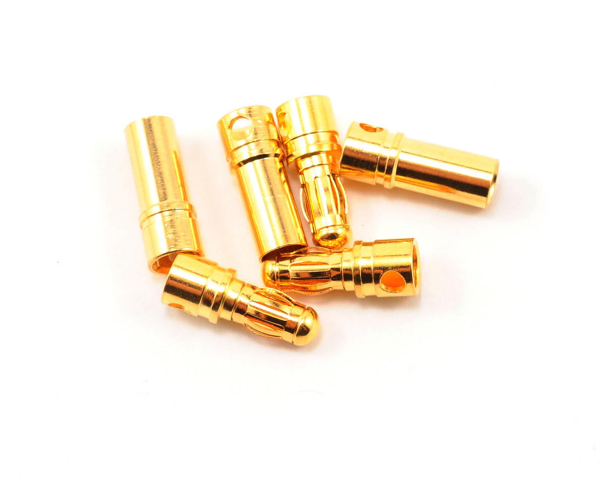 Team Associated MGT 3.5mm Bullet Connector Set (3 Male/3 Female)
