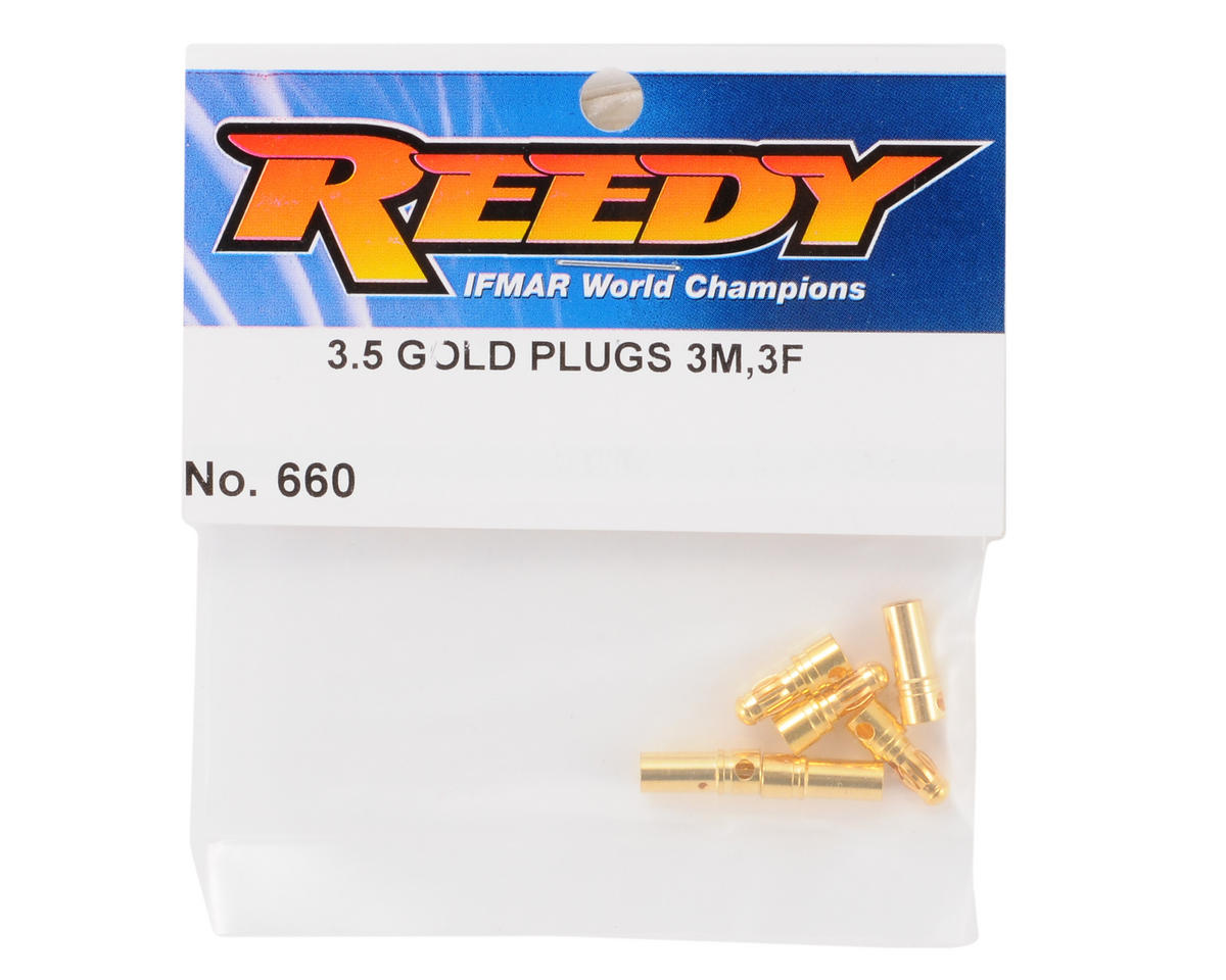 Team Associated 3.5mm Bullet Connector Set (3 Male/3 Female)