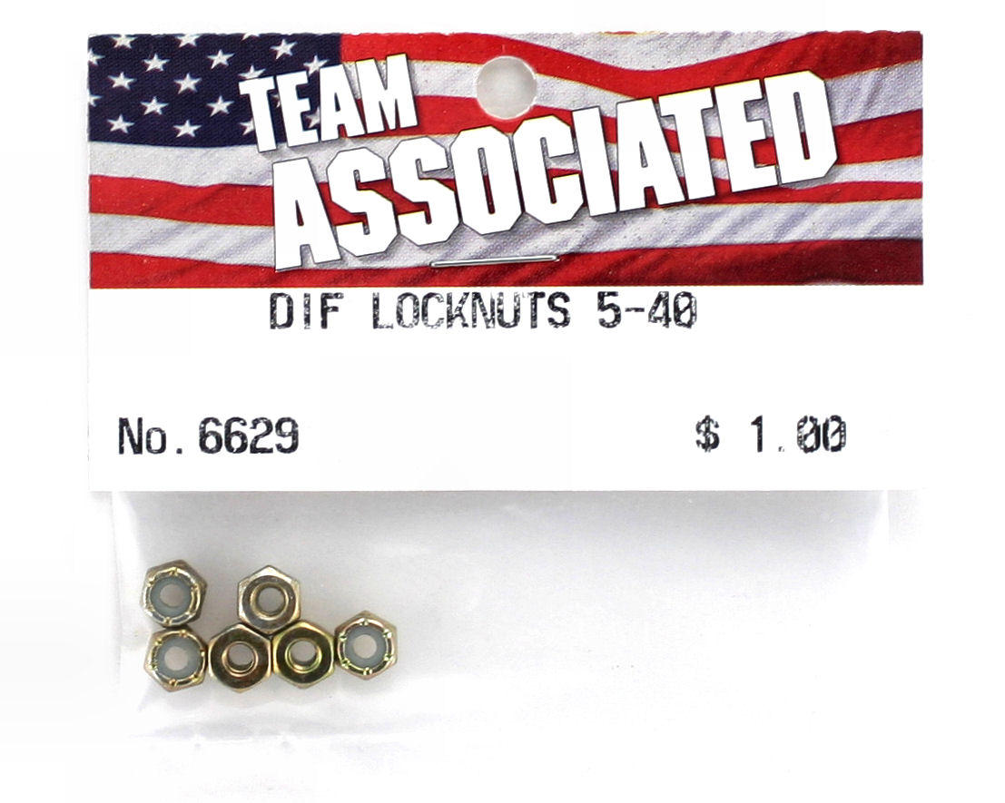 Team Associated 5-40 Slipper Locknut (6)