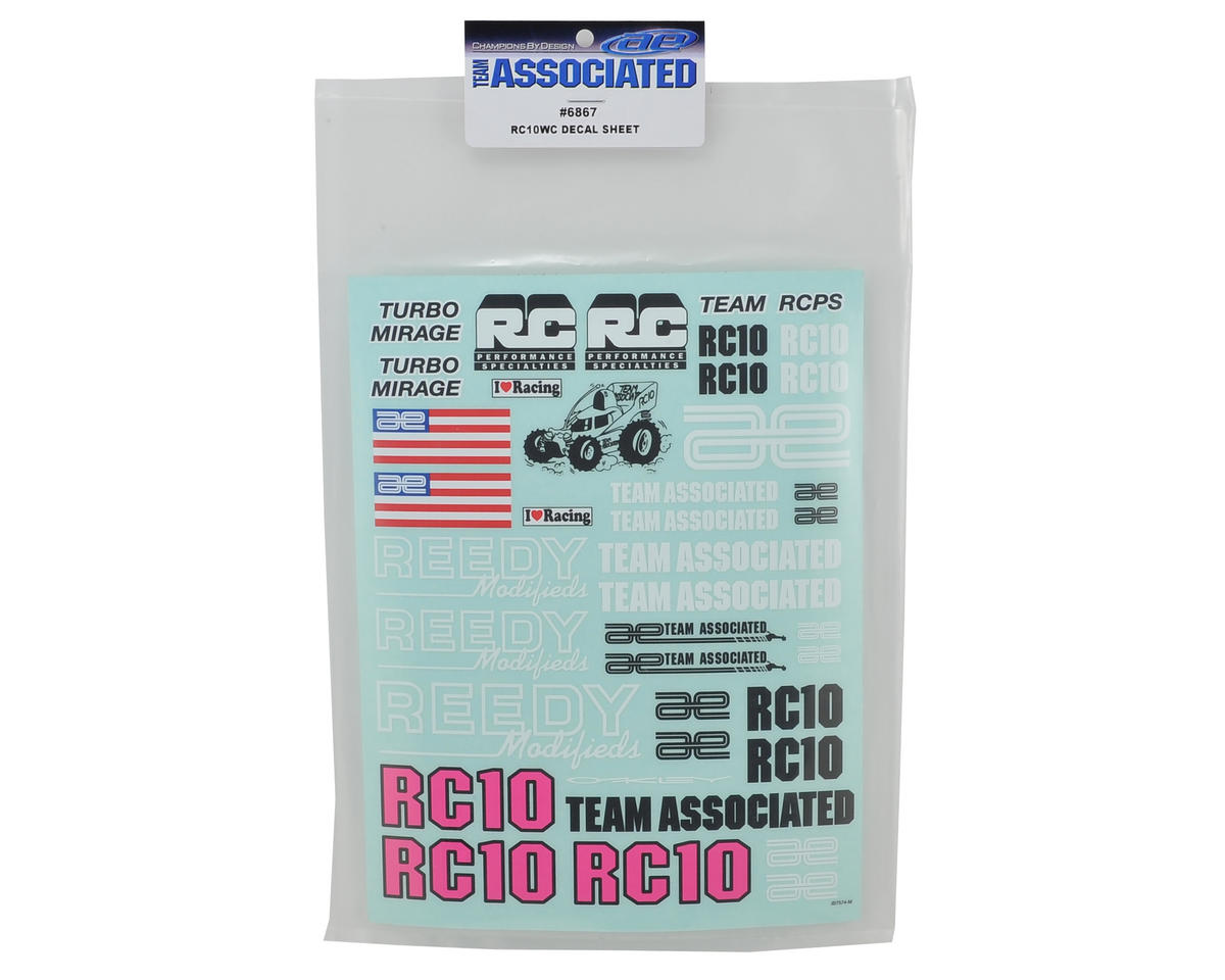 Team Associated RC10WC Decal Sheet