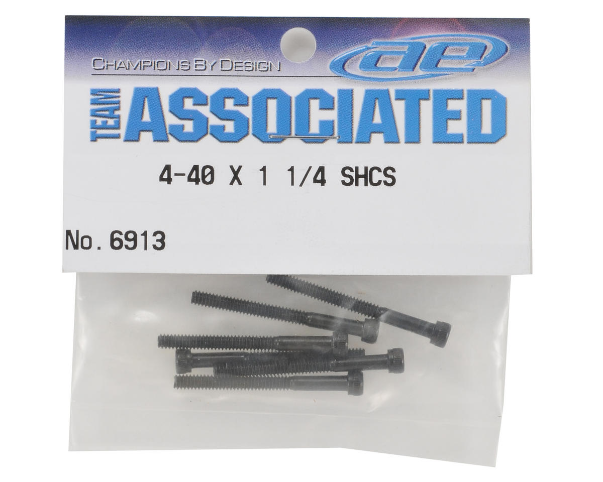 "Team Associated 4-40 x 1 1/4"" Cap Head Screw (6)"