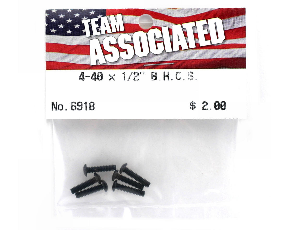 "4-40 x 1/2"" Button Head Screw (6) by Team Associated"