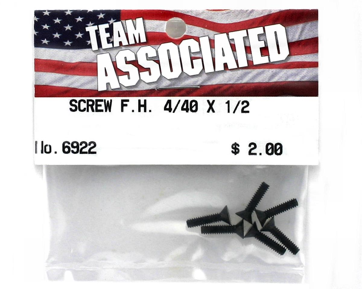 "Team Associated 4-40 x 1/2"" Flat Head Screw (6)"