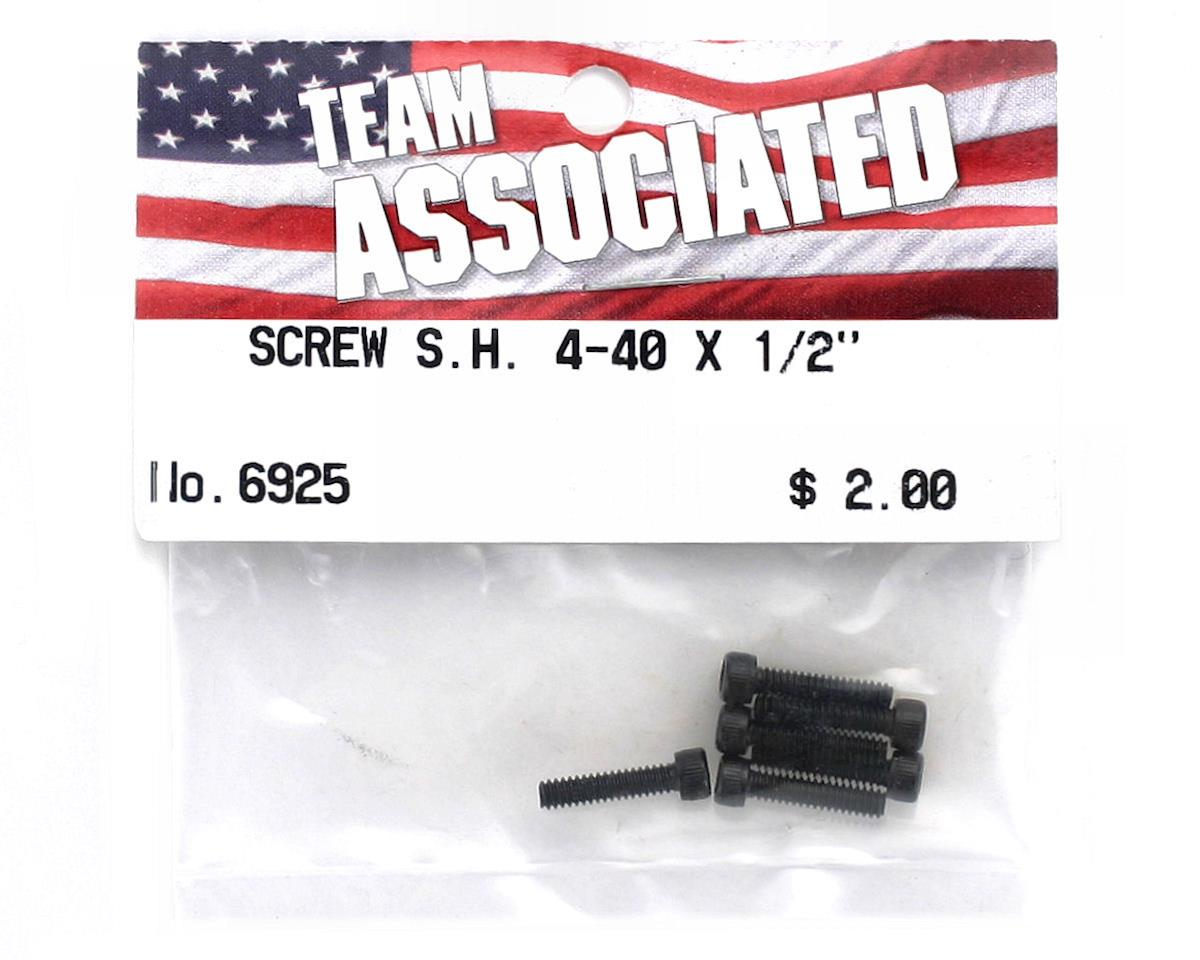 "Team Associated 4-40 x 1/2"" Cap Head Screw (6)"