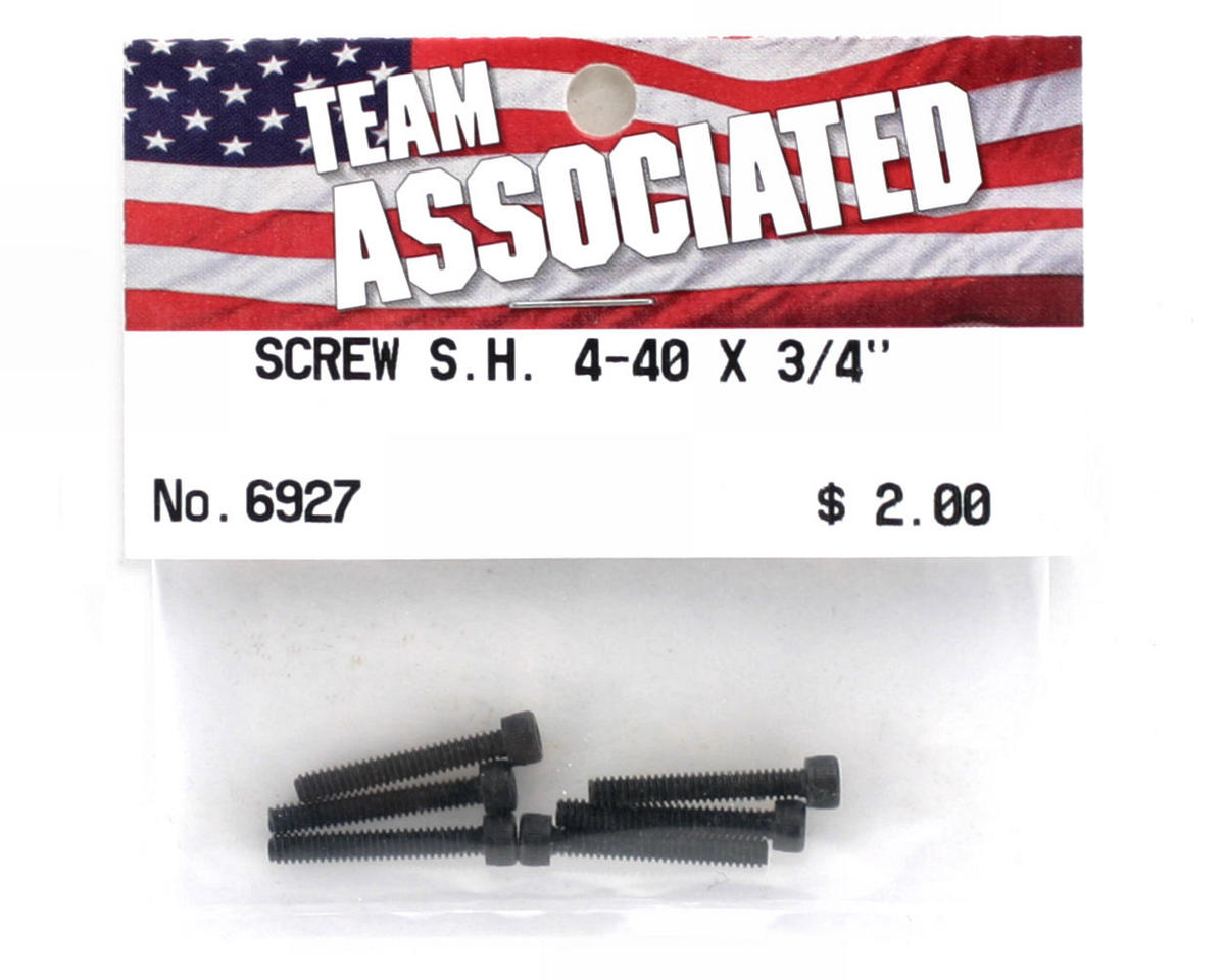"Team Associated 4-40 x 3/4"" Cap Head Screw (6)"