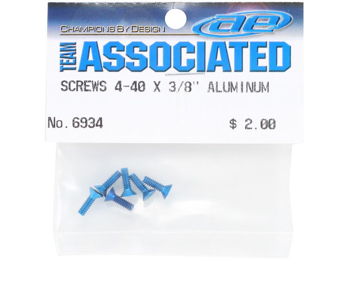 Aluminum Flat Head Hex Screw (6) (Blue) by Team Associated