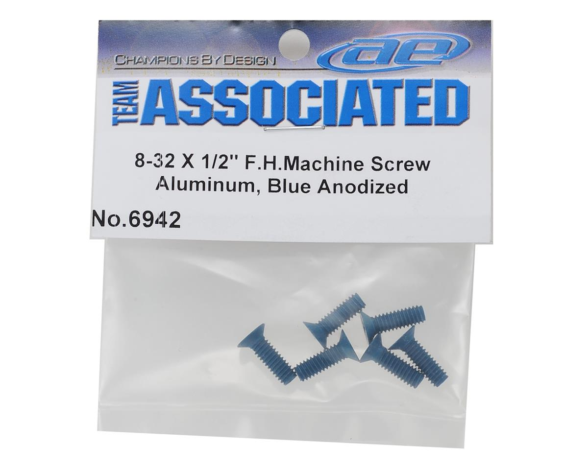 "Team Associated 8-32 x 1/2"" Aluminum Flat Head Phillips Screw (6)"