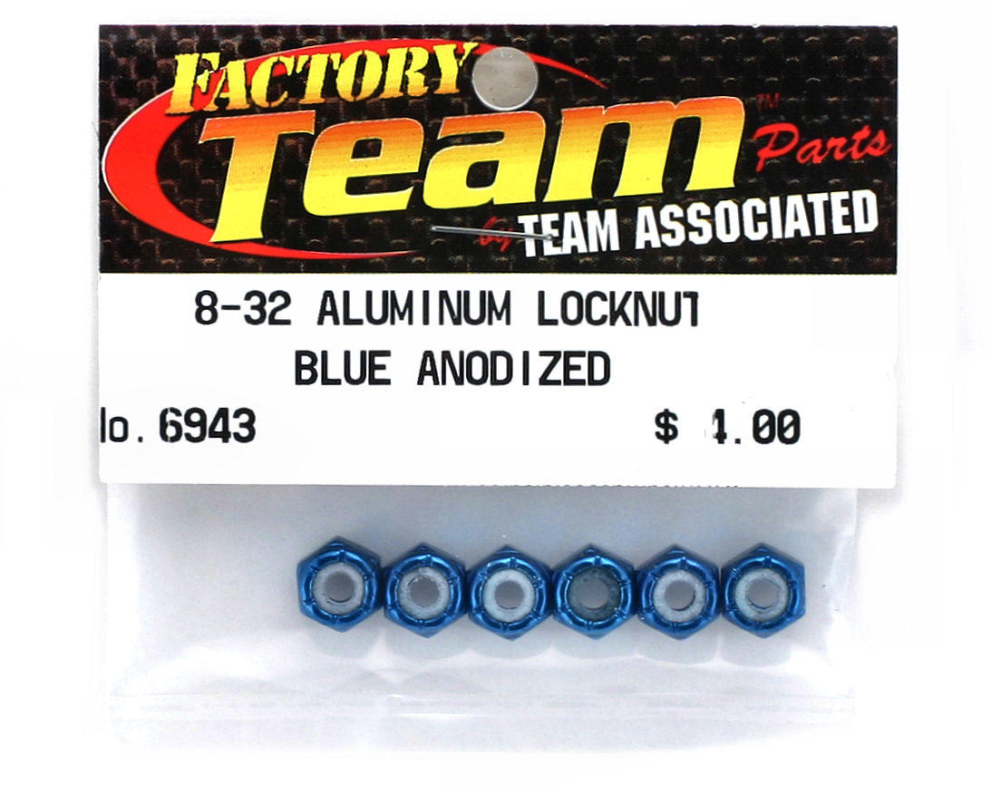 8/32 Aluminum Locknut (Blue Anodized) (6) by Team Associated