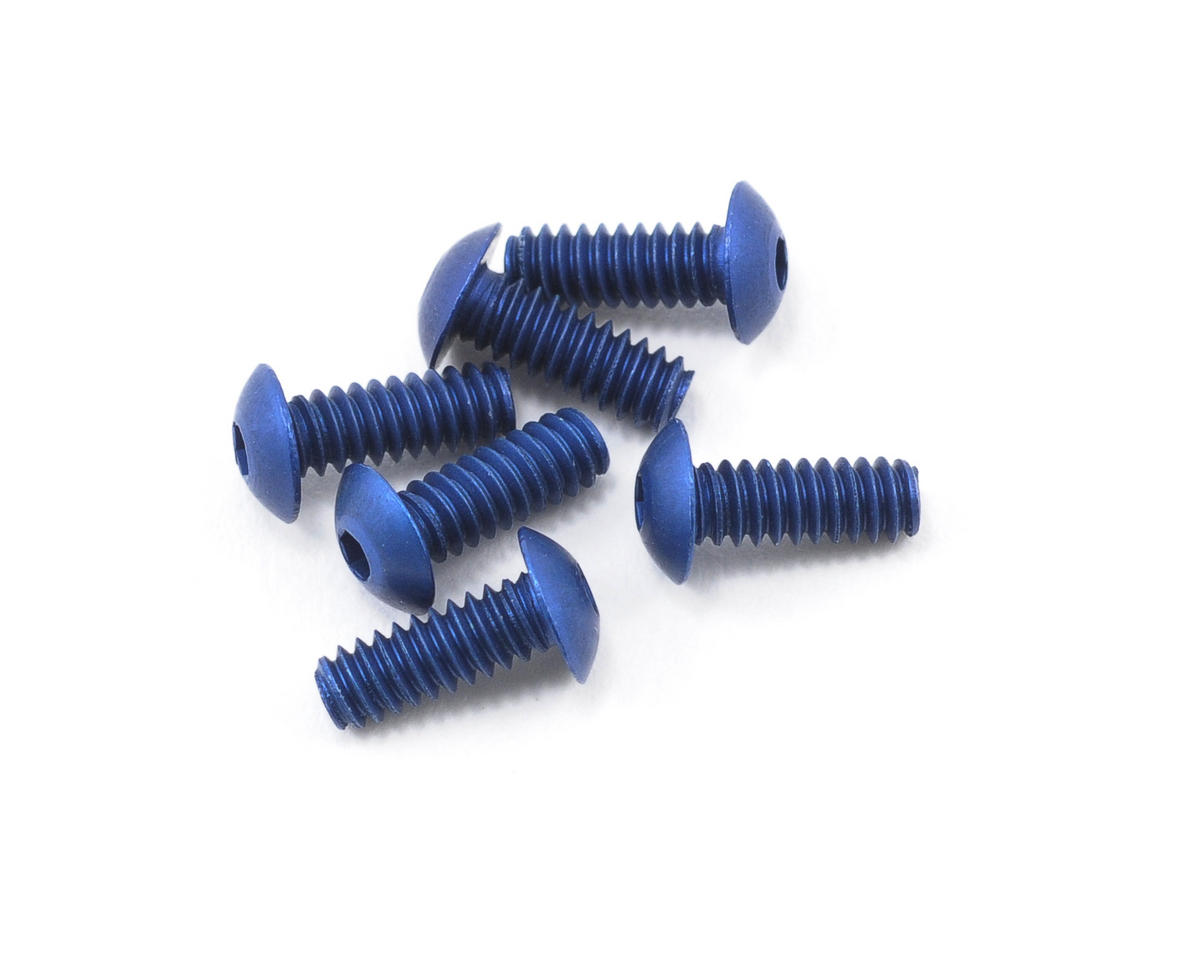 "Team Associated 4-40x5/16"" Button Head Cap Screw (Blue) (6)"