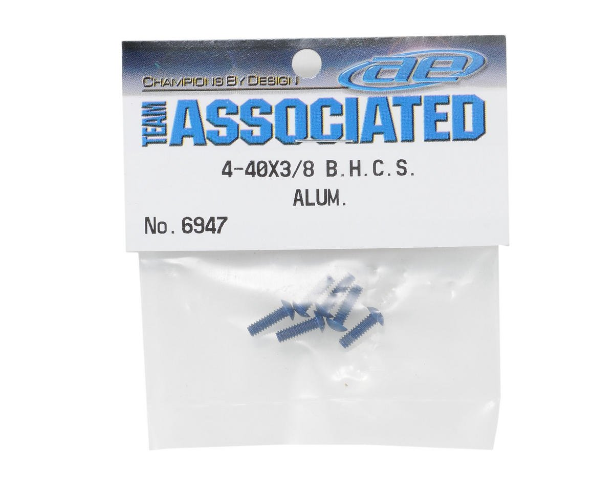 "Team Associated 4-40 x 3/8"" Aluminum Screw (Blue) (6)"