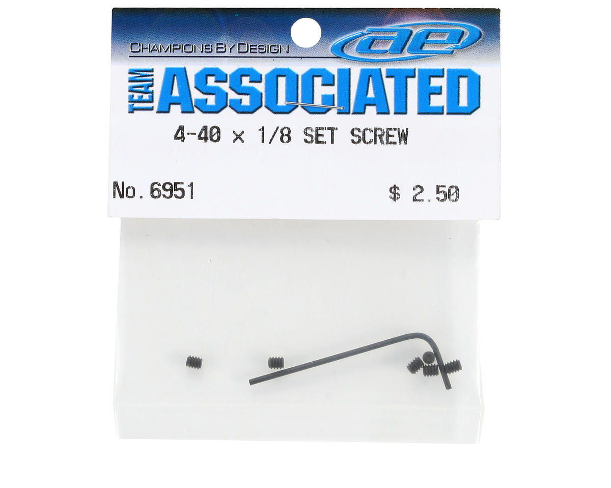 "Team Associated 4-40x1/8"" Pinion Set Screw (6)"