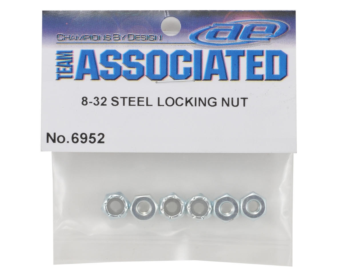 Team Associated 8/32 Steel Locknut (6)