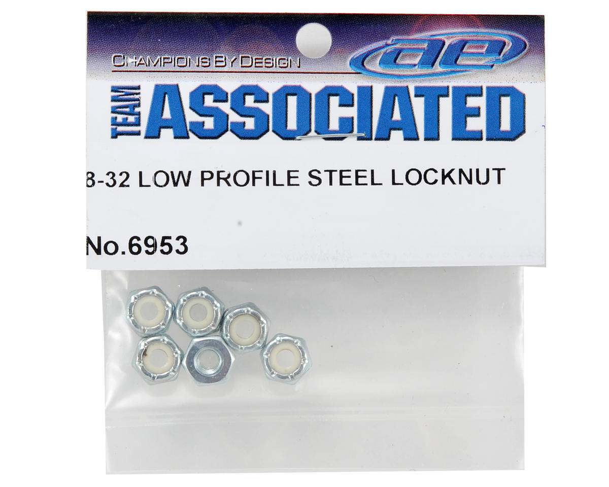 Team Associated 8/32 Steel Low Profile Locknut (6)