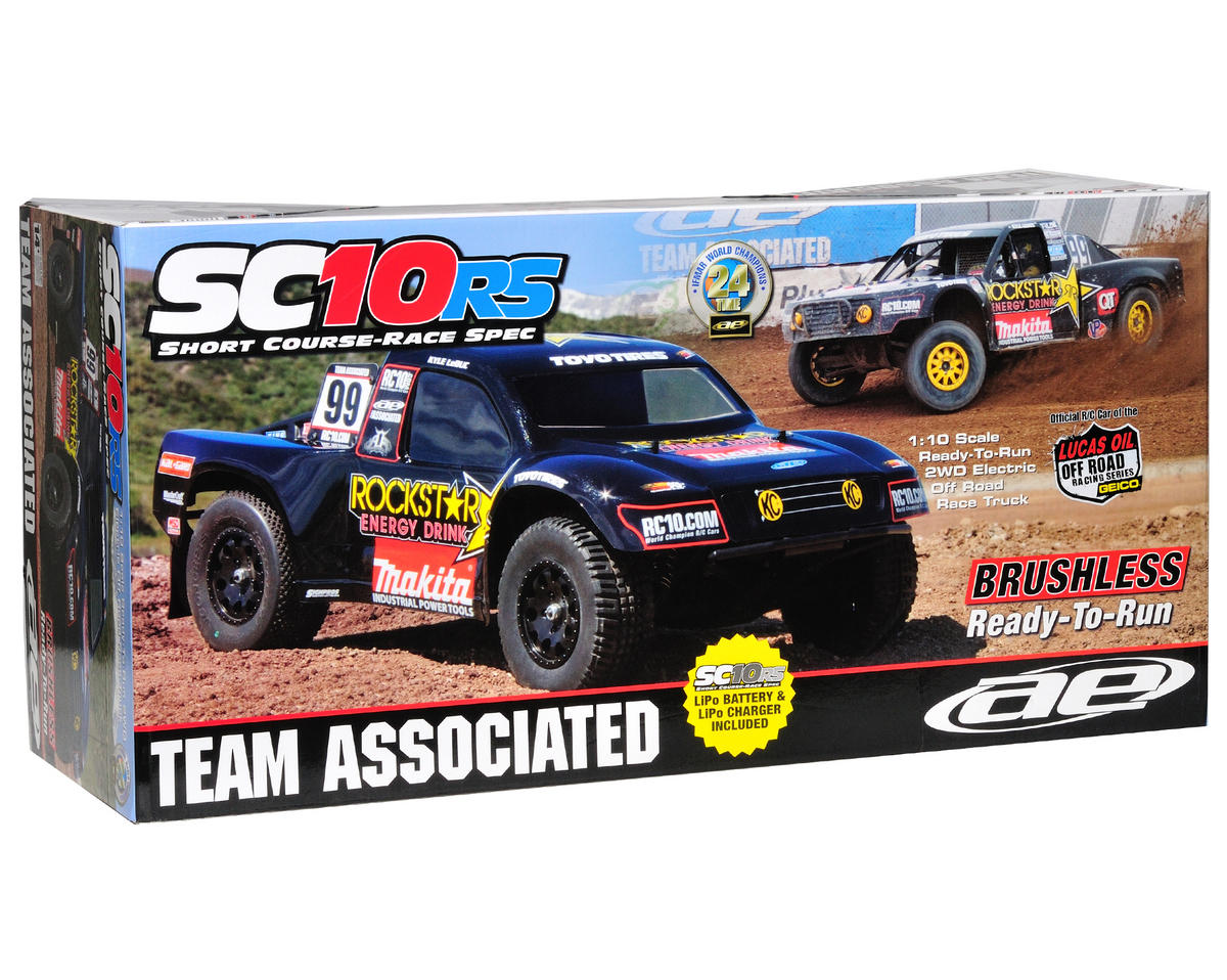 Team Associated SC10 1/10 RTR 2WD Short Course Truck Combo (Rockstar-Makita)