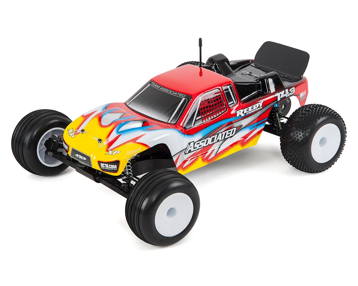 Team Associated RC10 T4.3 Brushless RTR 1/10 Stadium Truck Combo (Red)