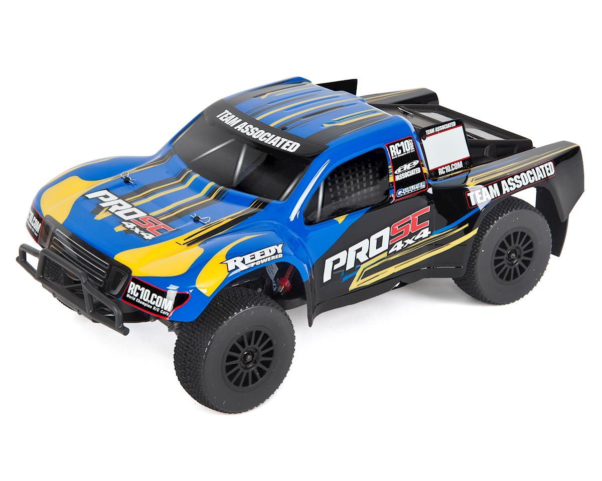 Team Associated ProSC 4X4 Brushless Ready-To-Run LiPo Combo Blue