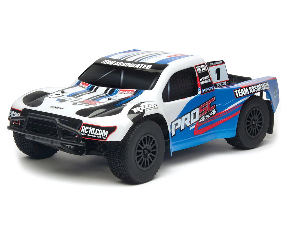 Team Associated ProSC 4X4 Brushless Ready-To-Run LiPo Combo White