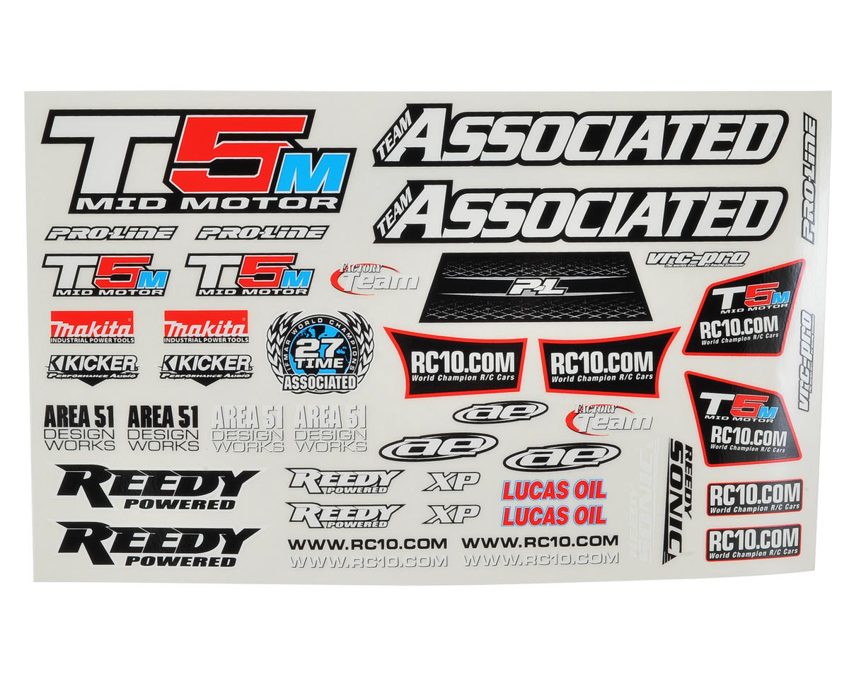 T5M Decal Sheet by Team Associated