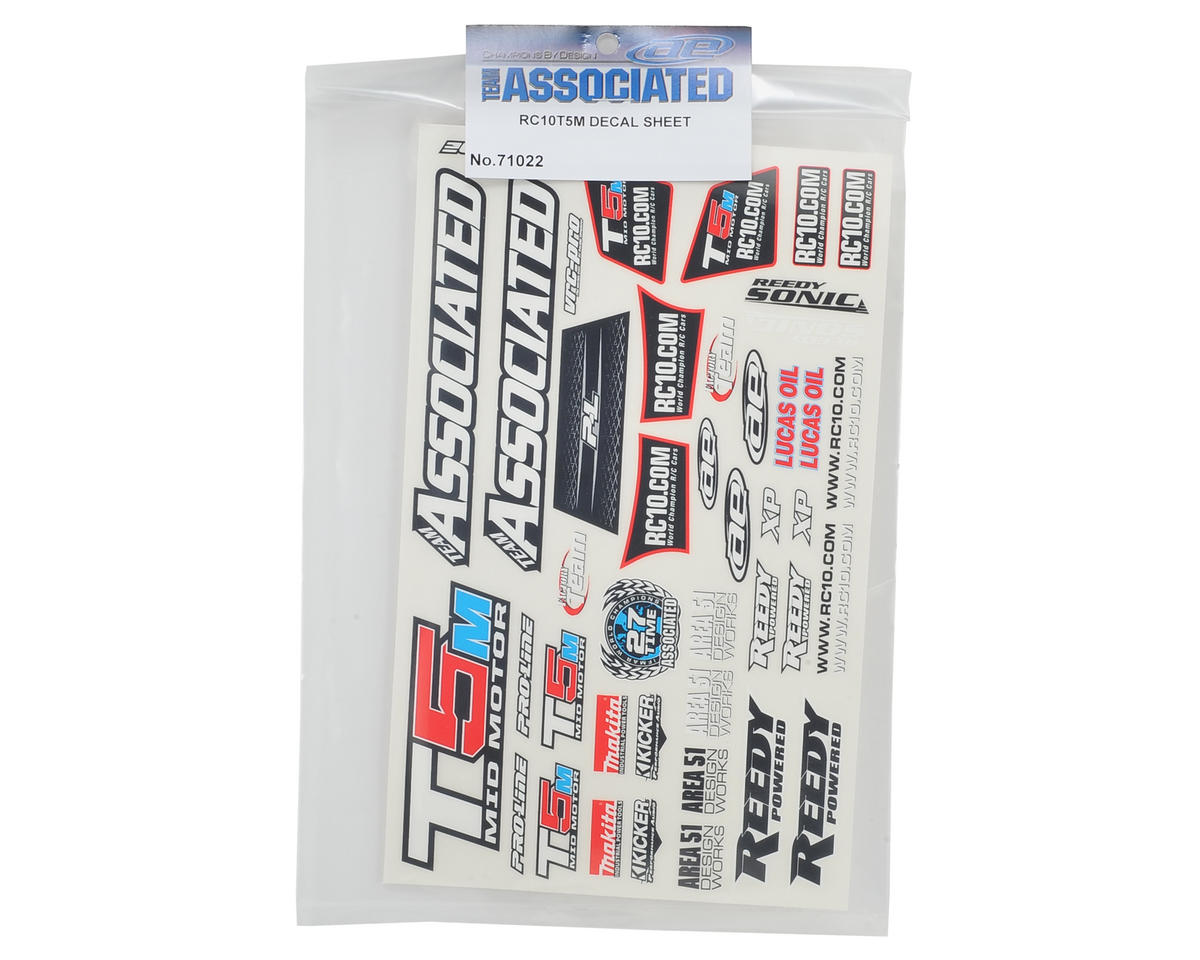Team Associated T5M Decal Sheet