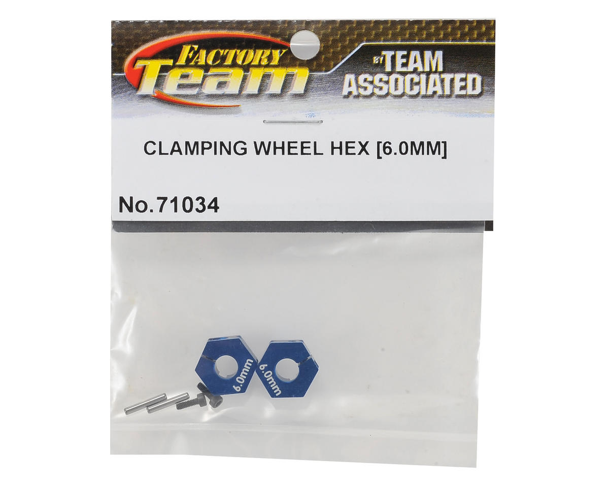Team Associated 6.0mm Clamping Wheel Hex Set