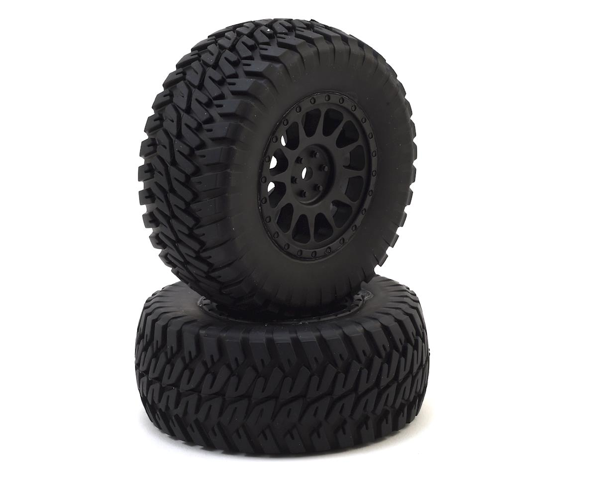 Team Associated 12mm Hex Multi-Terrain Pre-Mounted 1/10 Tires (Black) (2)