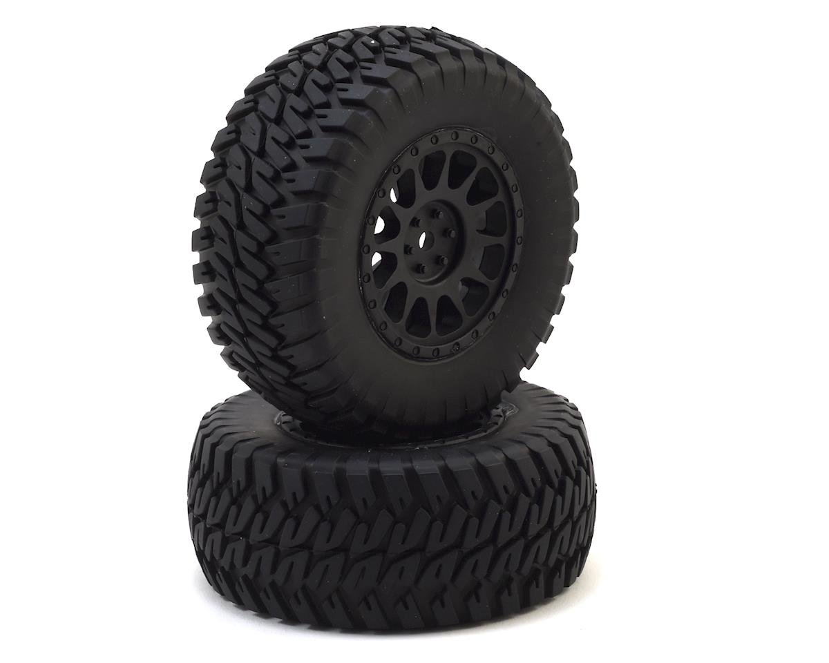 12mm Hex Multi-Terrain Pre-Mounted 1/10 Tires (Black) (2) by Team Associated