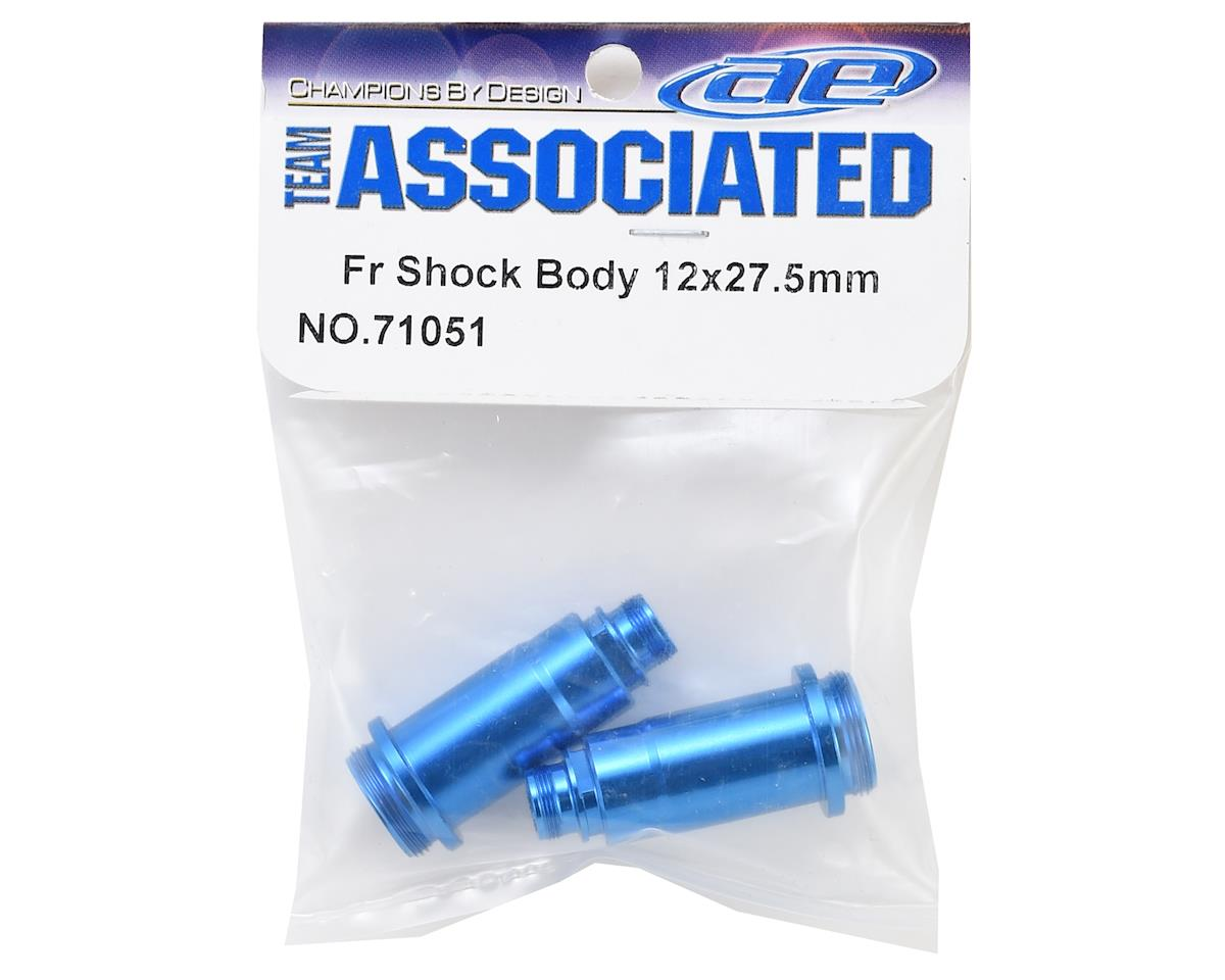 Team Associated 12x27.5mm Aluminum Front Shock Bodies (Blue) (2)
