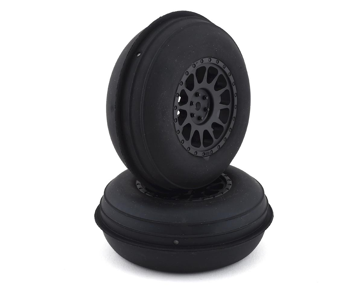 Team Associated Sand Ribbed Pre-Mounted Front Tires w/Method Wheels (Black)