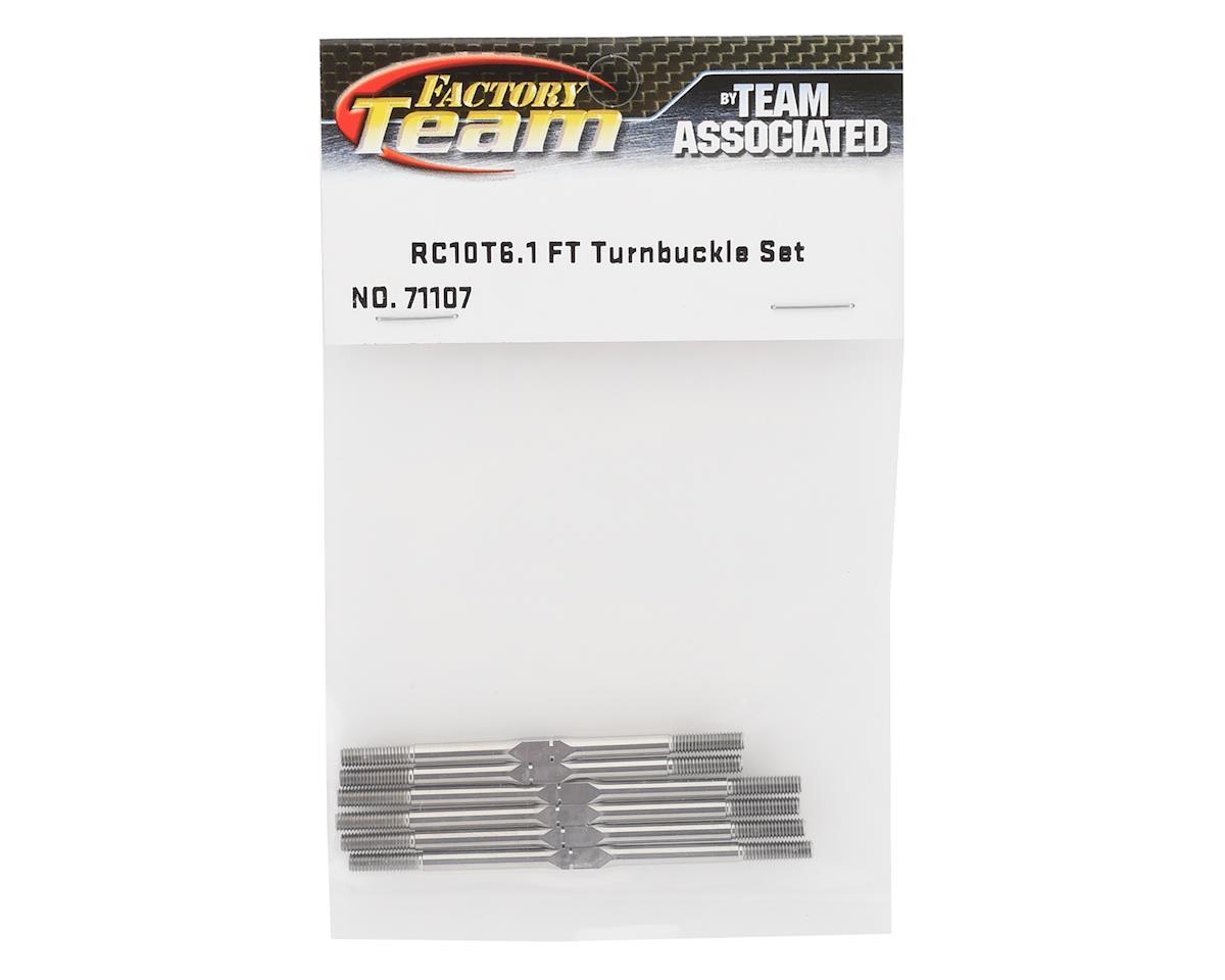 Team Associated Factory Team RC10T6.1 Titanium Turnbuckle Set
