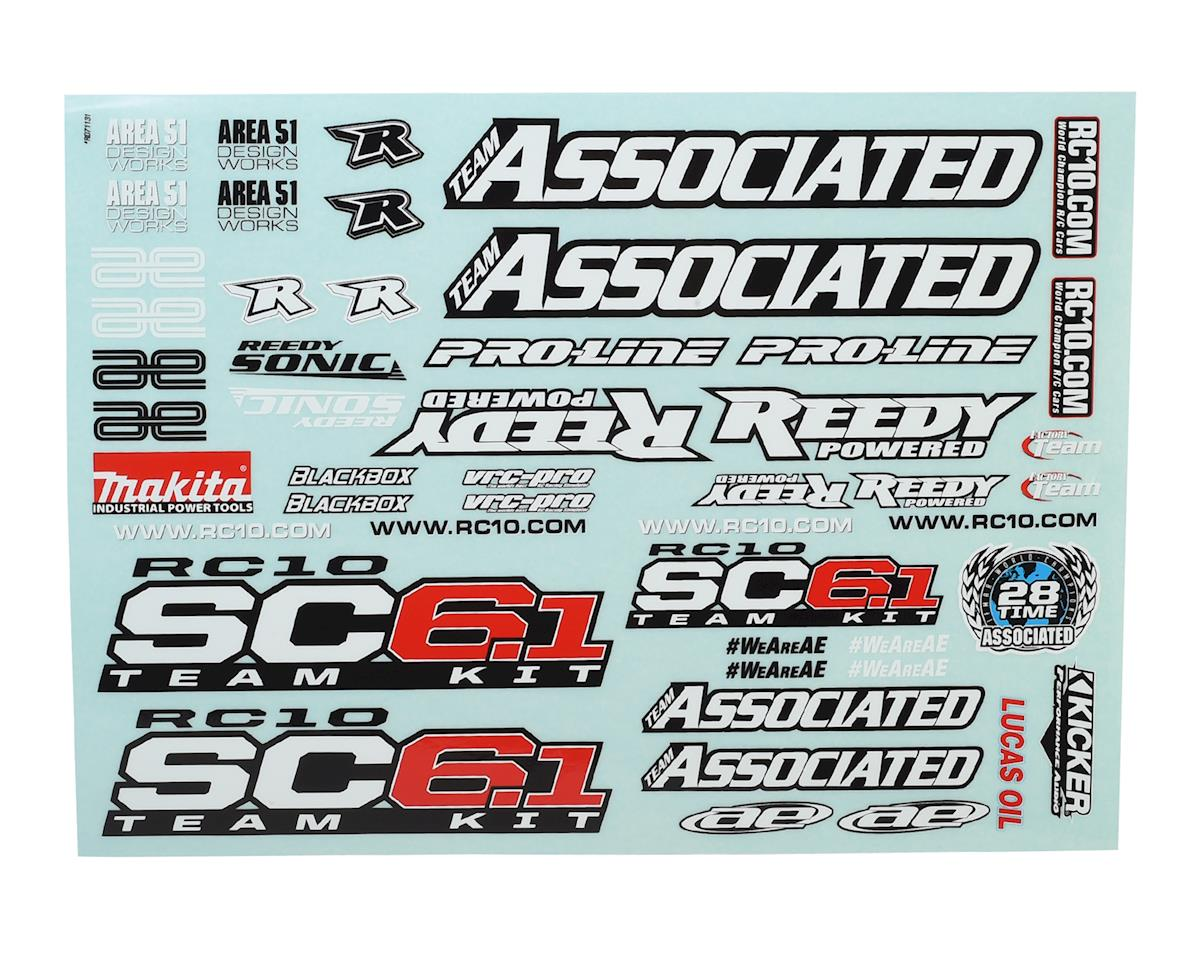 Team Associated SC6.1 Decal Sheet