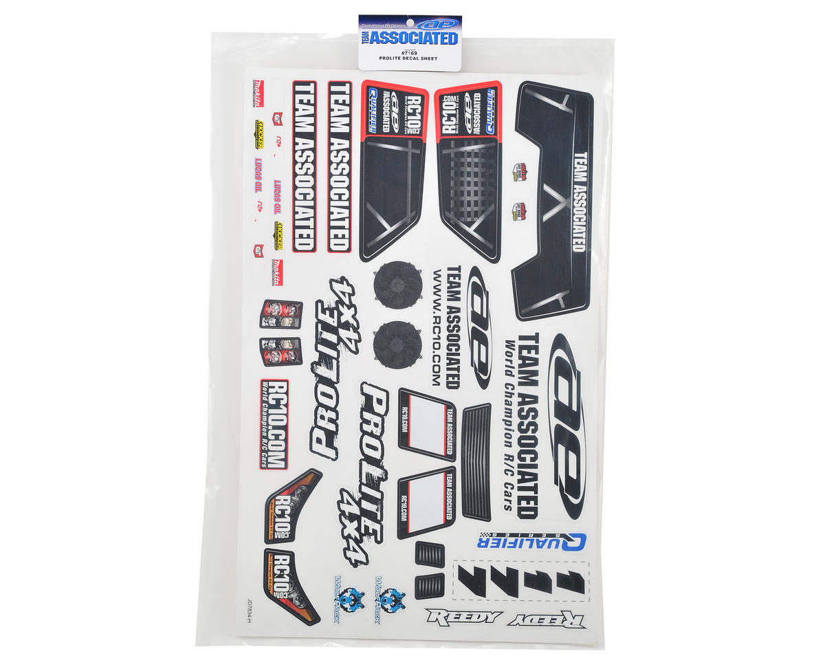 Team Associated ProLite Decal Sheet