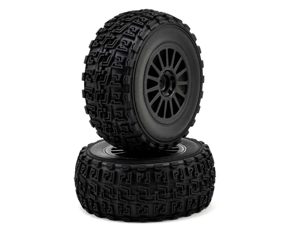 Team Associated Pre-Mounted Rally Tire (Black) (2)