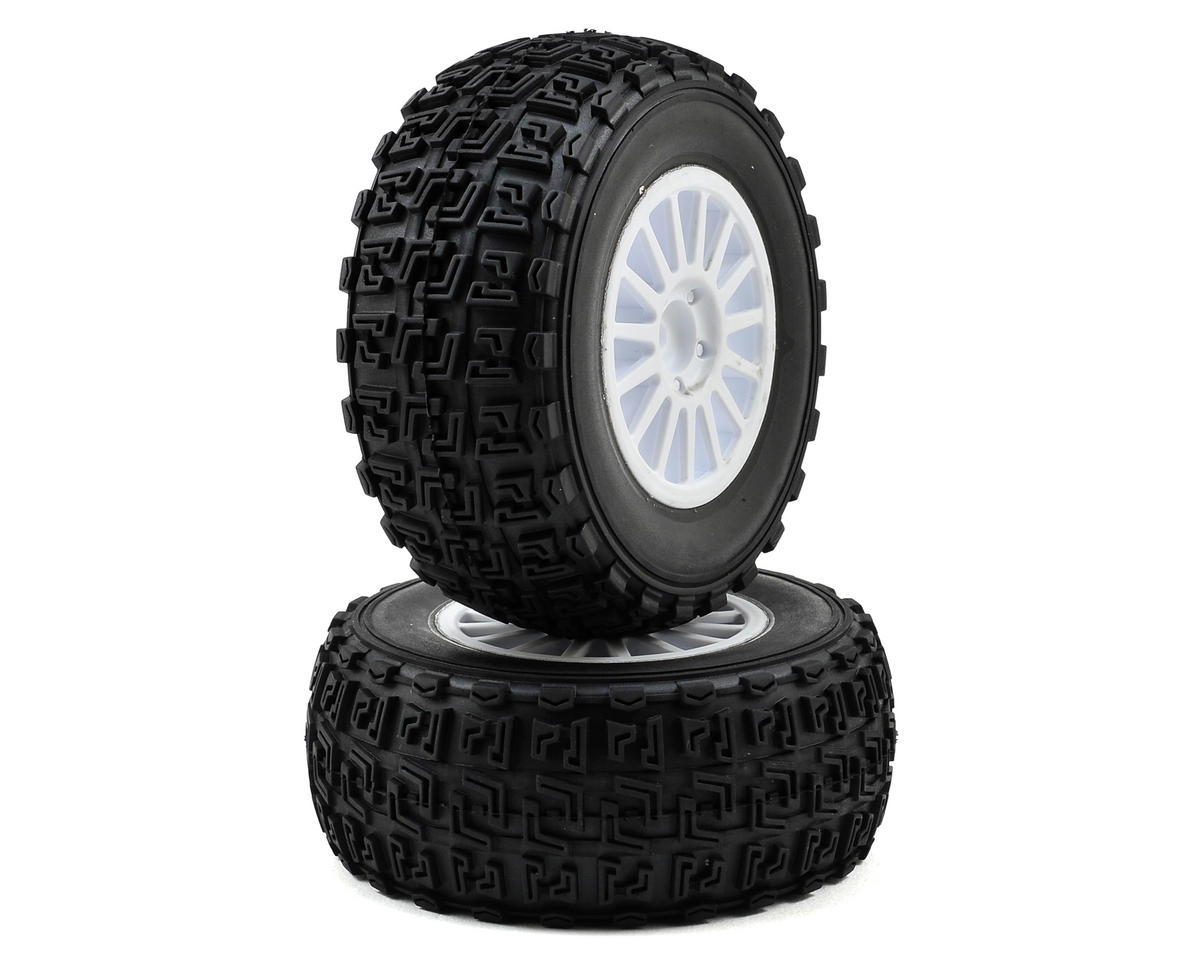 Team Associated Pre-Mounted Rally Tire (White) (2)
