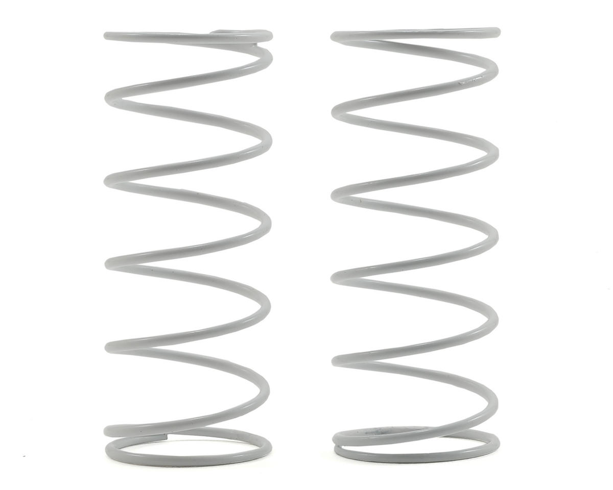 16mm Shock Spring (White) (2) (3.0lbs) by Team Associated